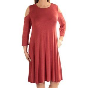 Style & Co.. Cold-Shoulder A-Line Dress. NWT